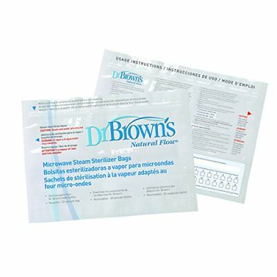 Dr Browns Options Reusable Microwave Steam Steriliser Bags Pack Of 5