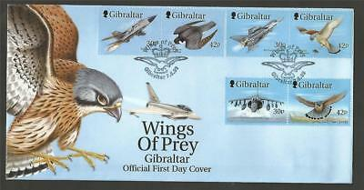 GIBRALTAR 1999 WINGS of PREY FDC COVERS BIRDS PLANES