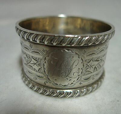 Victorian Silver Napkin Ring George & Nathan Hayes Chester 1896 22g 2.6cmA658717