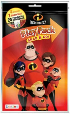 6X Incredibles Grab and Go Play Pack Party Favors (6pc)