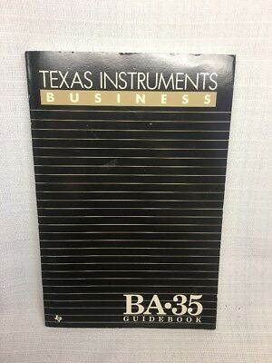 (CM) Guidebook User's Manual Texas Instruments Business BA 35 1986 Condition