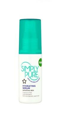 Superdrug Simply Pure Calming Soothex Hydrating Replenish Moisturiser Serum 50ml