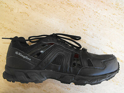 Mens KING GEE COMP-TEC G12 WORK SHOES Sports SAFETY TOE Size AUS/UK10 US11 Black