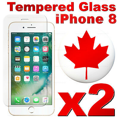 Premium Tempered Glass Screen Protector For iPhone 8 & iPhone 8 Plus (2 PACK)