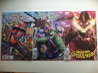 Amazing Spiderman #797- #800 Humberto Ramos Variants #799 Parrillo Set/6 Nm