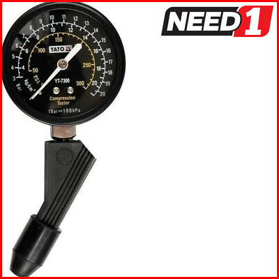 YATO Compression Tester 21 Bar with Universal Rubber Adapter.