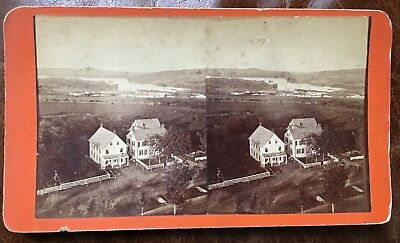Photograph Stereoview Belfast Bay Maine on  the Ocean  ca. 1870's