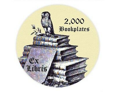 2,000 Bookplates on CD, Printable Royalty Free Vintage Images - Free Shipping