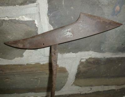 RARE Antique Mass. Whaling Harpoon Iron 19th Century Maritime Wrought Iron NR