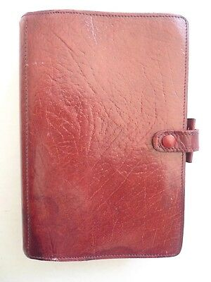 Filofax-  Leather  Planner - Made@ England- Classic- Vintage  Model 4Clf 7/8
