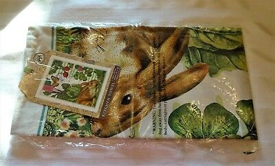 Michel Design Works Garden Bunny Kitchen Towel U2013 New With Tags