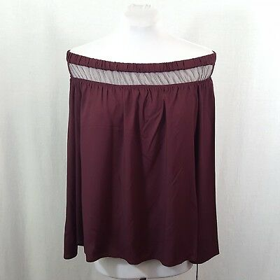 25ea70ea9d98b NWT ROCK   Republic Sexy Strappy Cold-Shoulder Fitted Top - Wine Red ...