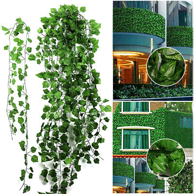 12pc Artificial Ivy Garland Plants Vine Fake Leaves Plant Outdoor Green Hanging