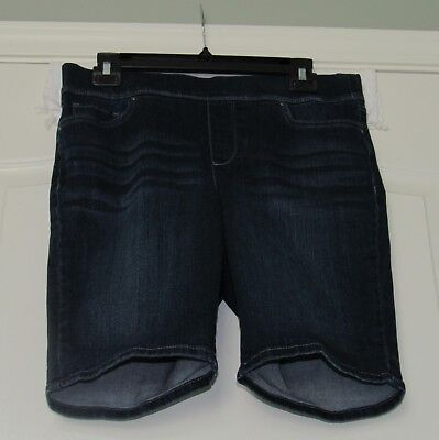 Croft & Barrow Shorts Size 10 Stretch Pull On Blue Jeans