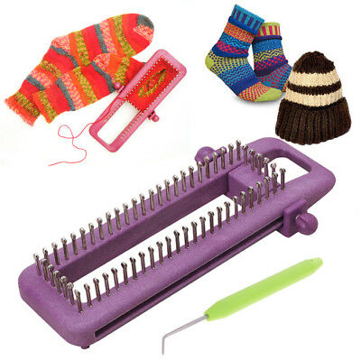 DIY Adjustable Wool Knitting Loom Scarf Sweater Shawl Tool Beginner Knit Tool