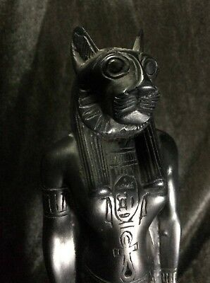 ANCIENT EGYPTIAN EGYPT Rare ANTIQUE Sekhmet GOD STATUE GODDESS Carved STONE L BC