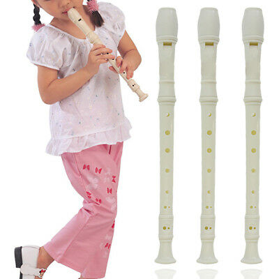 Plastic Musical Instrument Soprano Recorder Long Flute 8 Holes New For Beginners