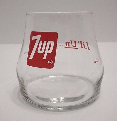 """Vintage 7-UP """"Lil' Un"""" Uncola Drinking Glass Low-Ball (10.14 oz/300 ml)"""