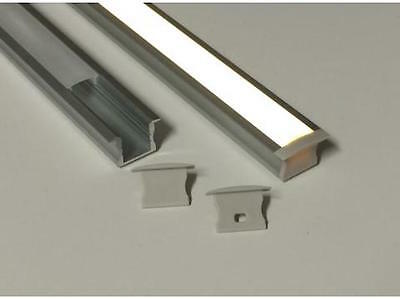 Deep Recess Line LED Strip Mounting Profile (2 metre length)