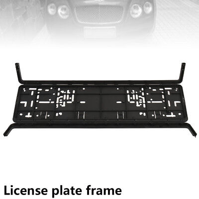 European Glossy Number Plate Holder Licence Plate Surround Frame ABS PC 1
