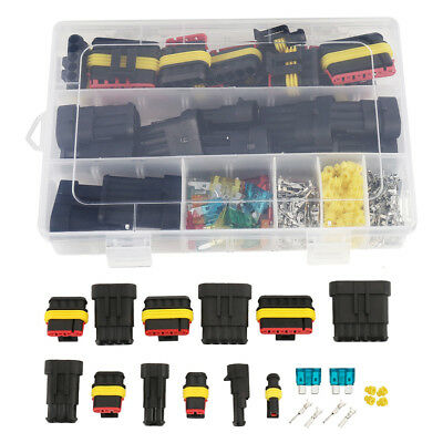 1-6 Pin Way Sealed Waterproof Electrical Wire Connector Plug Car Auto Set