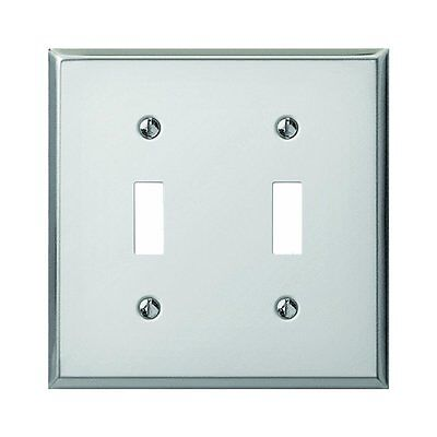 2 Creative Accents Steel 3 Toggle Switch Wall Plates 1 Brushed