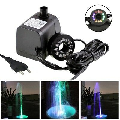 Solar Powered Fountain Submersible Floating Water Pump Pond Garden LED Light