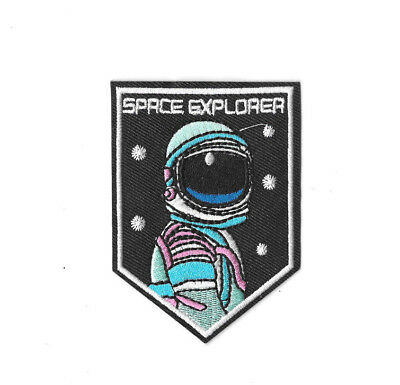 SPACE EXPLORER Iron on / Sew on Patch Embroidered Badge Astronaut NASA PT267
