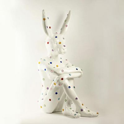 GILLIE AND MARC. Direct from artists. Ruby Rabbit. Fibreglass Jewel Sculpture.