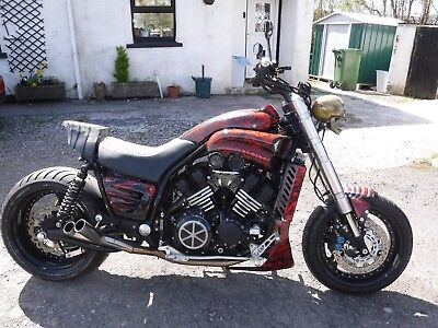 Yamaha Vmax 1200 V Max Bespoke Custom Muscle Bike Street Fighter Full Power