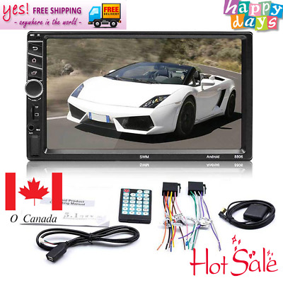 """7"""" 8806 Bluetooth 2DIN Android 7.1 WiFi Car Stereo Radio MP5 GPS Nav AUX Player"""
