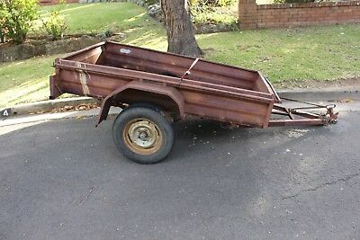 "Trailer (box) 6x4 - Registered - needs work, but can be towed ""as is"""