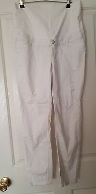 white Target maternity jeans 10