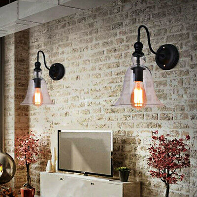 2X Swing Arm Wall Lamp Indoor Wall Lights Kitchen Glass Lighting Bar Wall Sconce