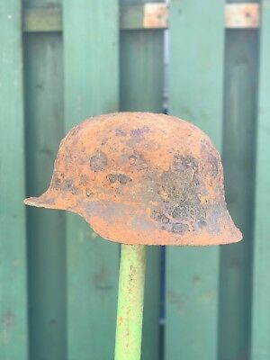WW2 WWII Original German Luftwaffe Helmet M40, With Soldiers Name inside