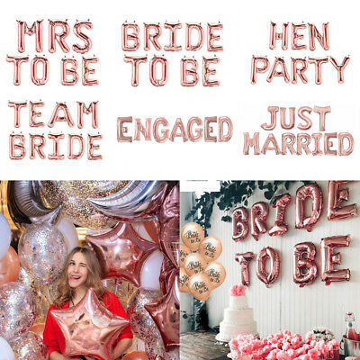 """16""""Bachelorette Party Wedding Balloon Team Bride Hen Night Out Letter Balloons"""