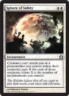 1x SPHERE OF SAFETY - Rare - RTR - MTG - Nm - Magic The Gathering