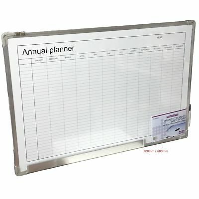 WhiteBoard Monthy Annual Planner Magnetic Dry Wipe Large Office School Table New