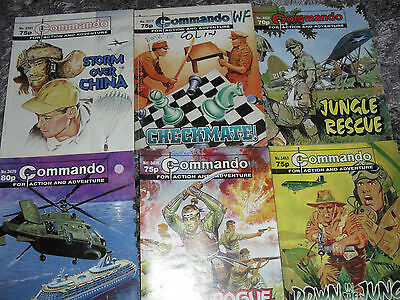 commando comics job lot