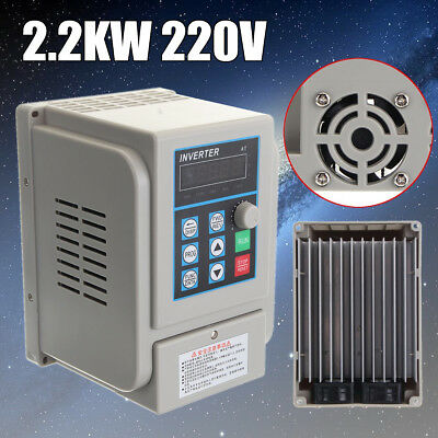 2.2KW 3HP 10A CNC 220V Variable Frequency Drive Inverter Single To Three Phase