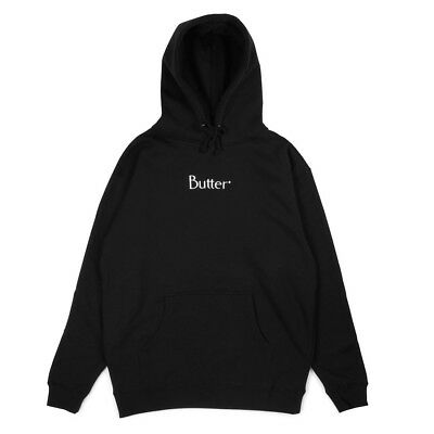 Butter Goods - Embroidered Classic Logo Mens Hoodie Black