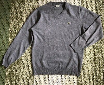 34b36801ed0e LACOSTE HERREN Pullover Pulli Sweater Strickpullover Vintage Wolle 5 ...