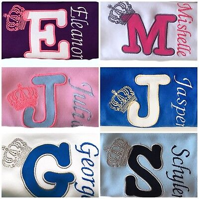 Personalised Baby/Kids/Toddler/Children T-SHIRTS Applique Boy/Girl Outfit Gift