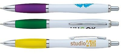 300 Promotional Ion White Click Pen Printed with Your Logo, Info or Message