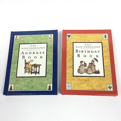 Vintage 1990's The Kate Greenaway Address Book & Birthday Book Set Hardback NEW