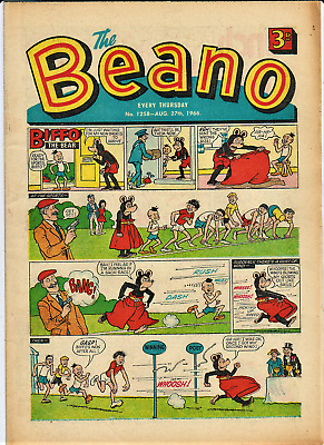 BEANO  # 1258 August 27th 1966 issue the comic