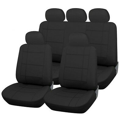 BLACK LEATHER LOOK SEAT COVERS SET For BMW 1-Series 118d M Sport 5d Step Auto 04