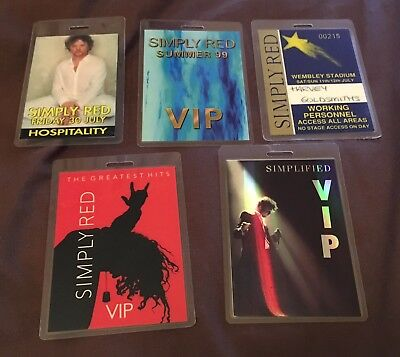 5 x Simply Red - VIP Passes  Mick Hucknell