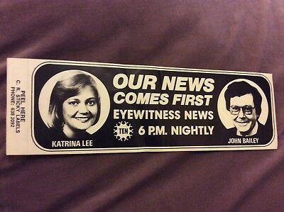 Vintage Sticker - TV - Channel Ten - Eyewitness News
