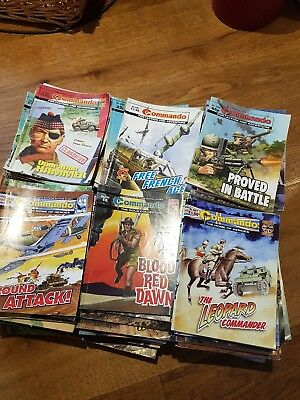 Commando Comics Job Lot Of 180, Used .